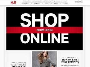 h&m shop on line