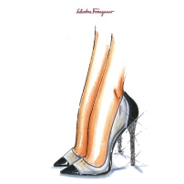 Cinderella by Salvatore Ferragamo Sketch