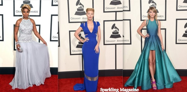 Mary J. Blige in J Mendel, Iggy Azalea in Armani, Taylor Swift in Elie Saab